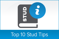 Top 10 Stud Tips