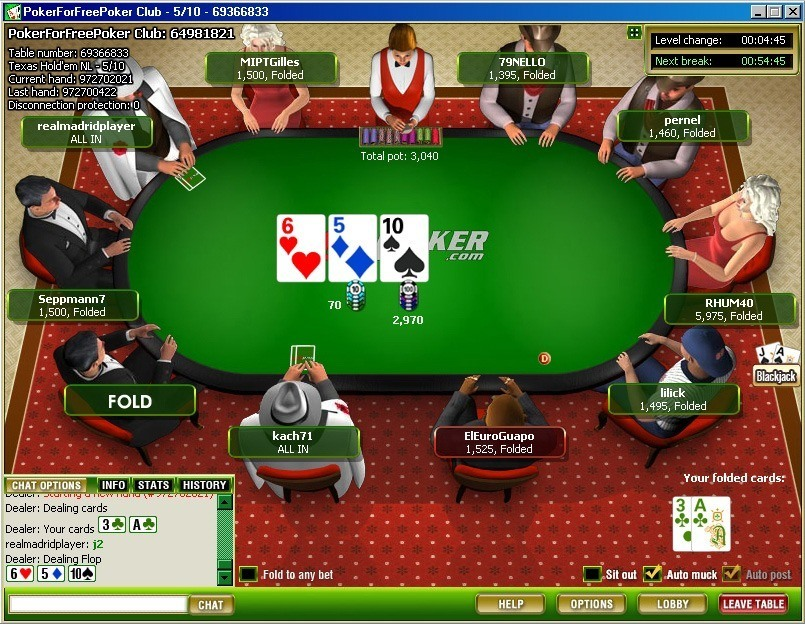 5-card poker probability chart