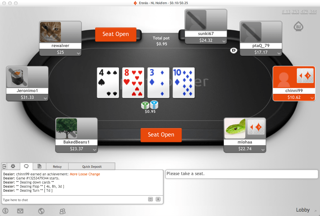 Party poker freerolls without deposit poker central owner
