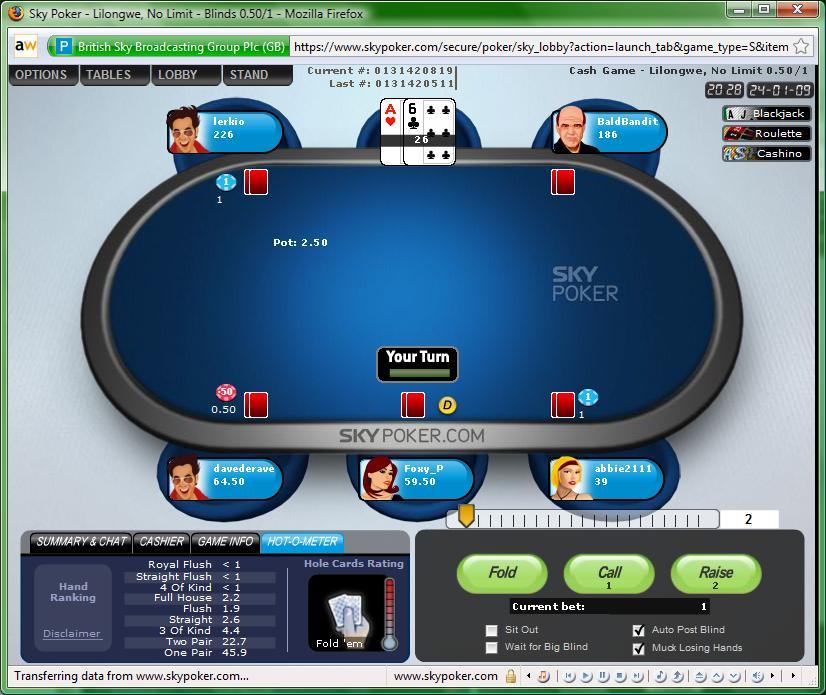 Poker sky